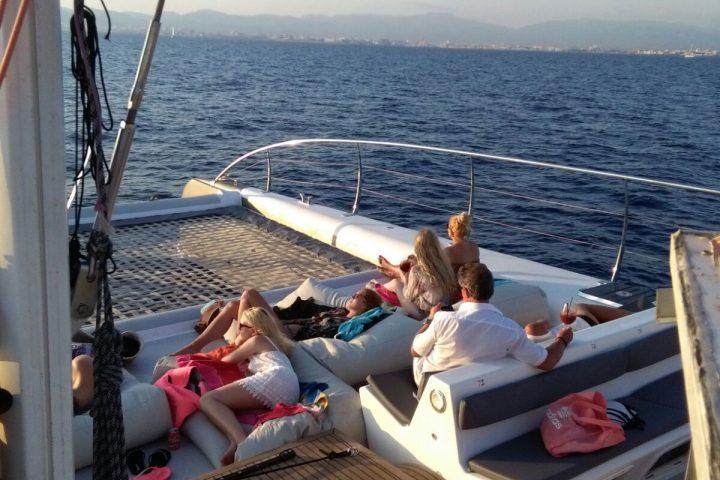 Catamarano Maiorca tramonto