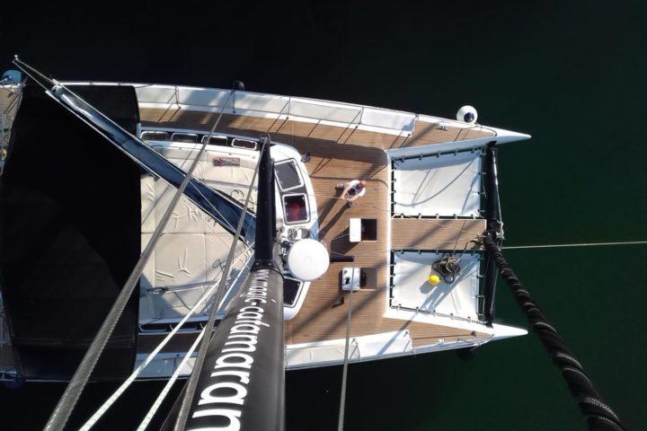 Mallorca catamaran freebird mastil