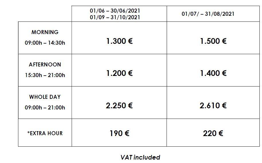 Luxury catamaran rates